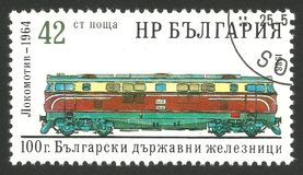 保加利亚内燃机车 免版税库存图片