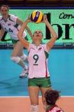 保加利亚冠军fivb s排球妇女 免版税库存图片