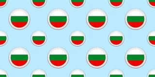保加利亚回合旗子无缝的样式 保加利亚背景 传染媒介圈子象 几何标志 体育的纹理 皇族释放例证