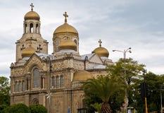 保加利亚大教堂瓦尔纳 库存照片