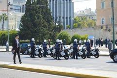 保加利亚总统正式访问在雅典, 2017年6月23日的希腊 雅典,希腊- 6月23 : 免版税库存图片