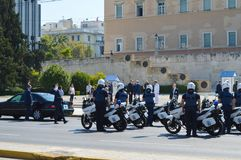 保加利亚总统正式访问在雅典, 2017年6月23日的希腊 雅典,希腊- 6月23 : 库存照片