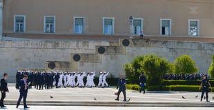保加利亚总统正式访问在雅典, 2017年6月23日的希腊 雅典,希腊- 6月23 : 库存图片