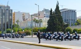 保加利亚总统正式访问在雅典, 2017年6月23日的希腊 雅典,希腊- 6月23 : 图库摄影
