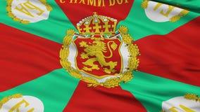 保加利亚战争旗子特写镜头无缝的圈 影视素材