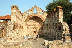 保加利亚教会nesebar废墟sophia st 库存照片
