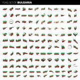 保加利亚旗子,传染媒介例证 库存图片
