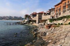 保加利亚概览sozopol城镇 免版税库存照片