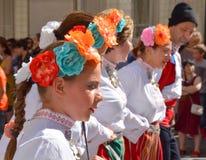 保加利亚民间舞蹈 免版税库存照片