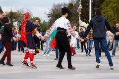 保加利亚民间舞 免版税图库摄影