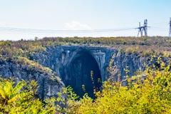 保加利亚洞,电杆巨大的入口  免版税图库摄影