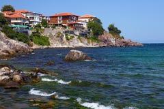 保加利亚海岸线 库存图片