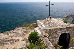 保加利亚海角kaliakra 免版税库存照片