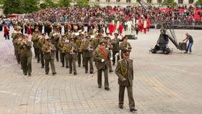 从保加利亚的军乐队 免版税库存照片