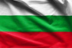 保加利亚的挥动的旗子 免版税库存图片