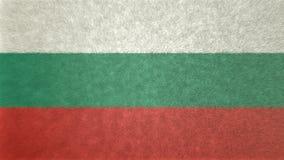 保加利亚的旗子的原始的3D图象 向量例证