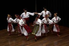 保加利亚舞蹈演员 库存图片