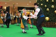 保加利亚舞蹈演员 免版税库存照片