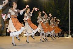 保加利亚舞蹈组音乐会 库存照片