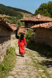保加利亚街道村庄 免版税库存照片