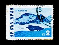 保加利亚邮票显示Pirin山,大约1962年 免版税库存照片