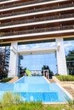 保加利亚,黑海海岸,海滨胜地Albena,旅馆fasad  库存图片