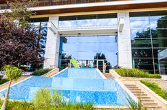保加利亚,黑海海岸,海滨胜地Albena,火鸟圆山大饭店 免版税库存图片
