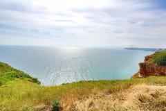 保加利亚,黑海 沿海equense横向阶索伦托vico Kaliakra陆岬 库存图片