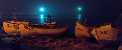 保加利亚:夜,雾,波摩莱 免版税图库摄影
