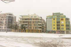 保加利亚:波摩莱大厦, 12月31日 免版税库存图片