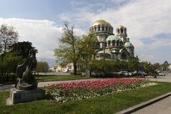 保加利亚索非亚大教堂涅夫斯基 免版税图库摄影