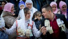 保加利亚RIBNOVO POMAK婚礼 库存图片