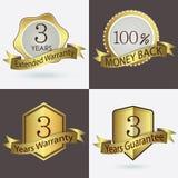 3年保单/延长的保证期/保证/100%兑现  库存例证