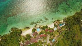 保和省海岸海岛鸟瞰图  通风 菲律宾 影视素材