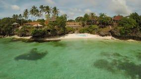 保和省海岸海岛鸟瞰图  通风 Fisheye视图 菲律宾 影视素材