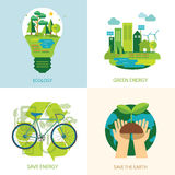 保存世界和清洁能源概念 免版税库存照片