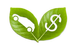 保存地球,存金钱 免版税库存照片