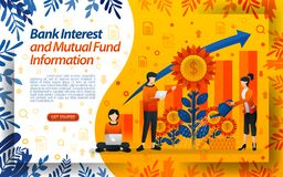 保存基金的银行业务 好银行利息水花,概念传染媒介ilustration 可能为登陆的页,templat使用 向量例证
