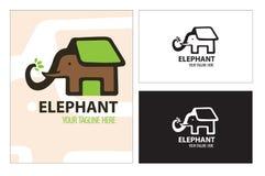 保存大象房子树动物 免版税库存照片
