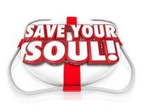 保存您的灵魂词救生衣 免版税库存图片