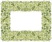 保存日期花卉卡片 边界框架 库存例证