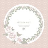 保存日期花卉卡片 库存例证