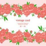 保存日期花卉卡片 向量例证