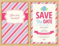 保存日期,婚姻邀请卡片 免版税图库摄影