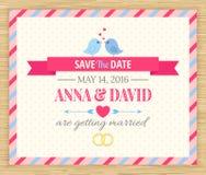 保存日期,婚姻邀请卡片 库存照片