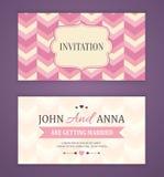 保存日期,婚姻邀请卡片 免版税库存照片