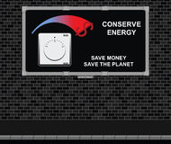 保存能量广告委员会 皇族释放例证