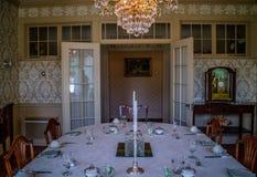 保存良好的州长豪宅在奥古斯塔,缅因 库存照片