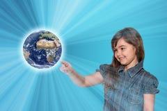 保存行星地球概念 免版税库存图片