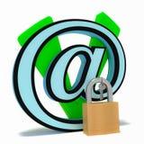 保存被锁的电子邮件 库存照片
